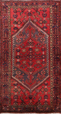 Tribal Hamedan Persian Area Rug 4x7