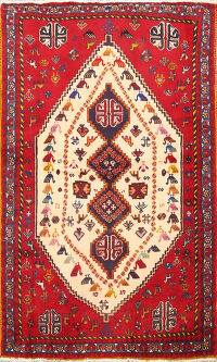 Tribal Abadeh Persian Area Rug 4x6