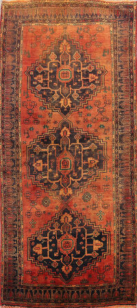 Geometric Bidjar Persian Area Rug 3x6