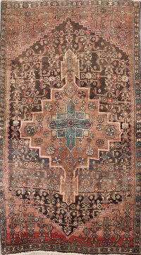 Antique Bidjar Persian Area Rug 4x6