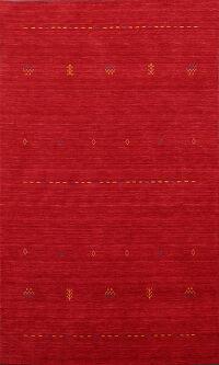 Red Abstract Gabbeh Oriental Area Rug 6x8