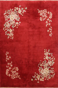 Floral Art Deco Chinese Area Rug 8x10