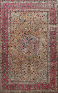 Pre-1900 Antique Dorokhsh Vegetable Dye Persian Area Rug 9x11
