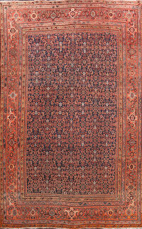 Pre-1900 Antique Vegetable Dye Sultanabad Persian Rug 11x14