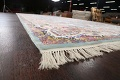 All-Over Floral Silk Large Tabriz Persian Area Rug 13x27 image 6