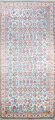 All-Over Floral Silk Large Tabriz Persian Area Rug 13x27 image 1