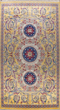 Large Floral Silk Tabriz Persian Area Rug 13x20