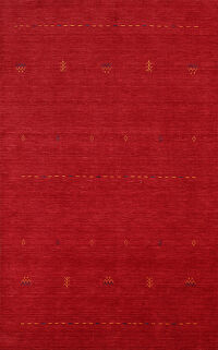 Red Gabbeh Oriental Area Rug 6x8