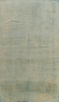 Muted Distressed Oushak Egyptian Area Rug 7x11
