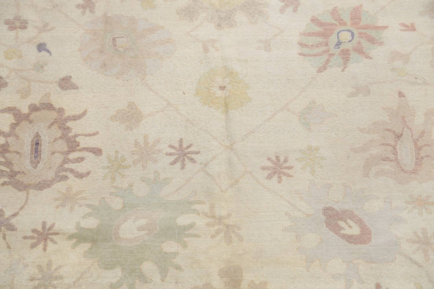 Muted Floral Oushak Egyptian Area Rug 8x9 image 4