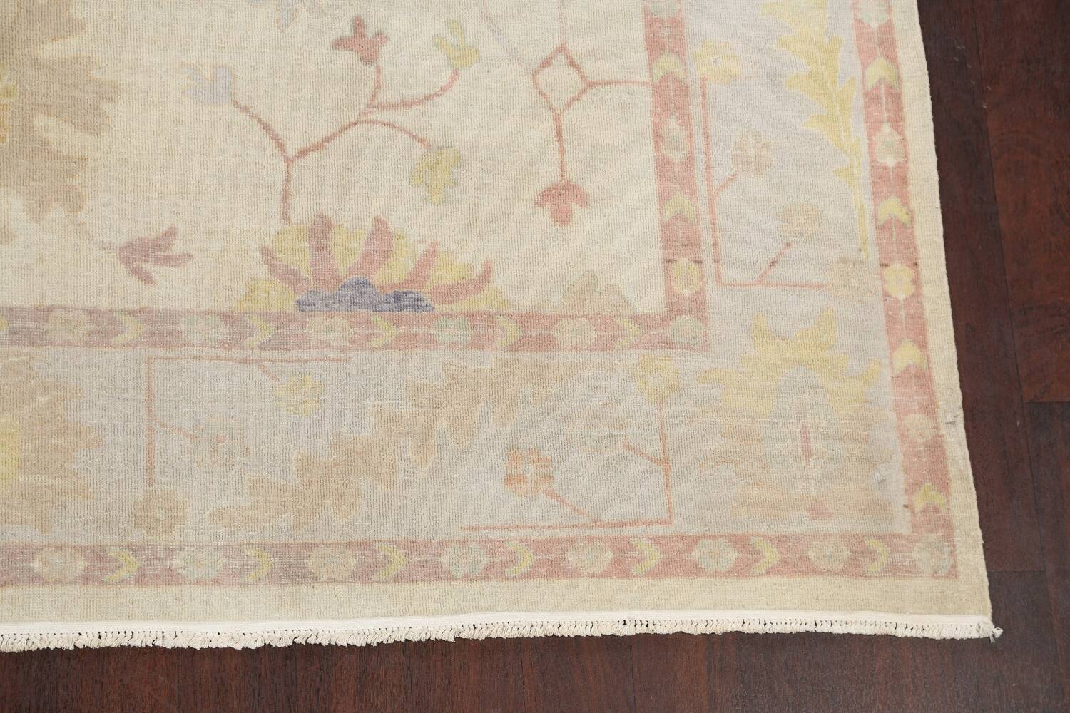 Muted Floral Oushak Egyptian Area Rug 8x9 image 5