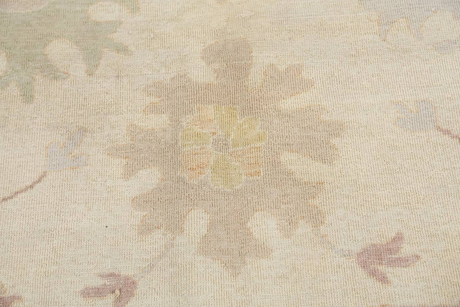 Muted Floral Oushak Egyptian Area Rug 8x9 image 9