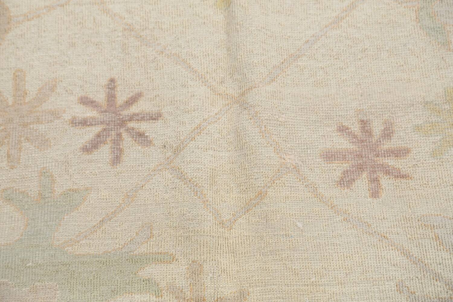 Muted Floral Oushak Egyptian Area Rug 8x9 image 10