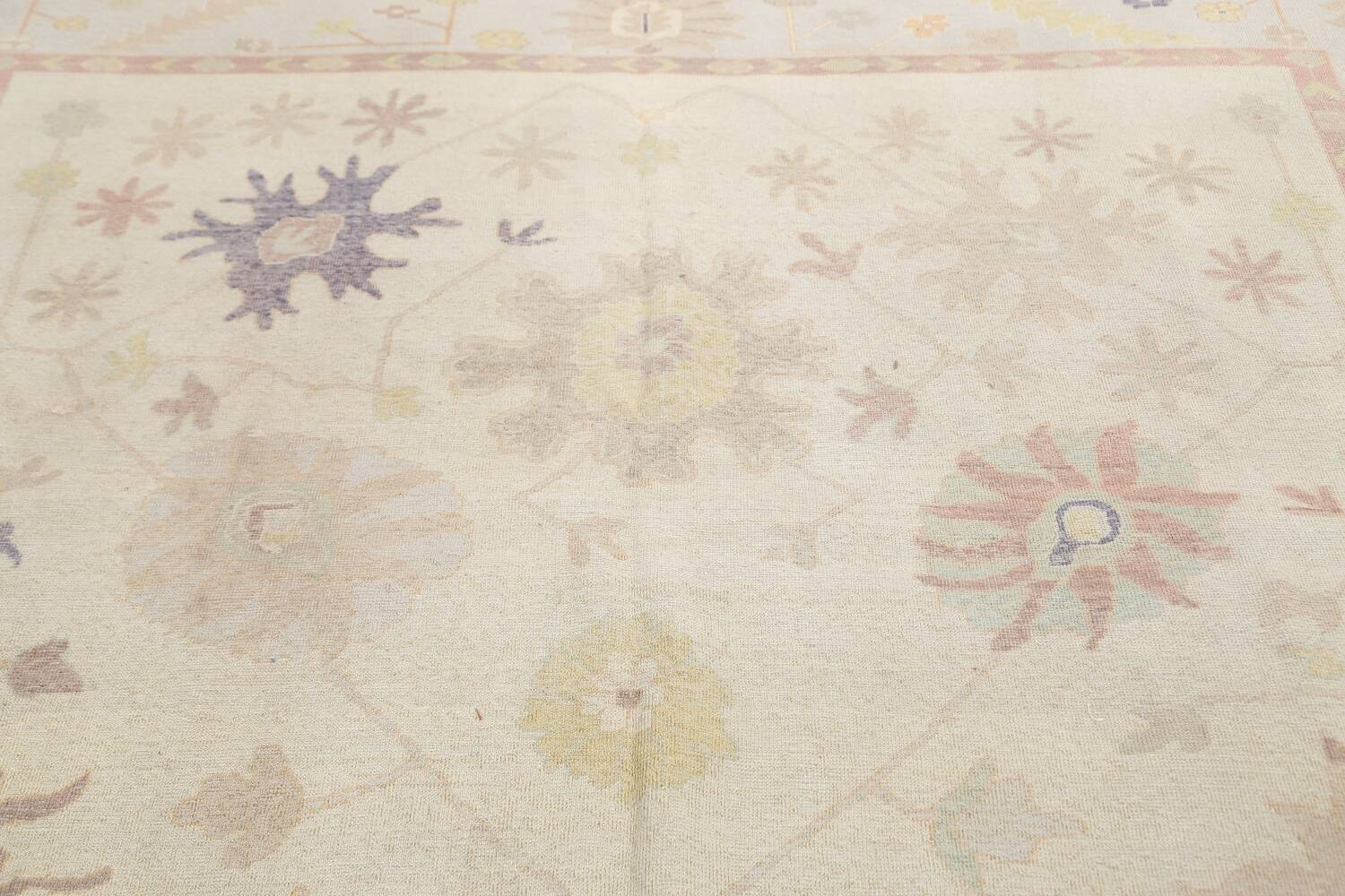 Muted Floral Oushak Egyptian Area Rug 8x9 image 11
