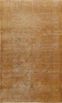 Muted Distressed Oushak Oriental Area Rug 6x9
