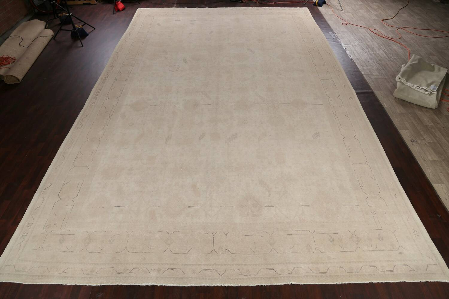 Antique Sultanabad Vegetable Dye Persian Area Rug 14x23 image 2