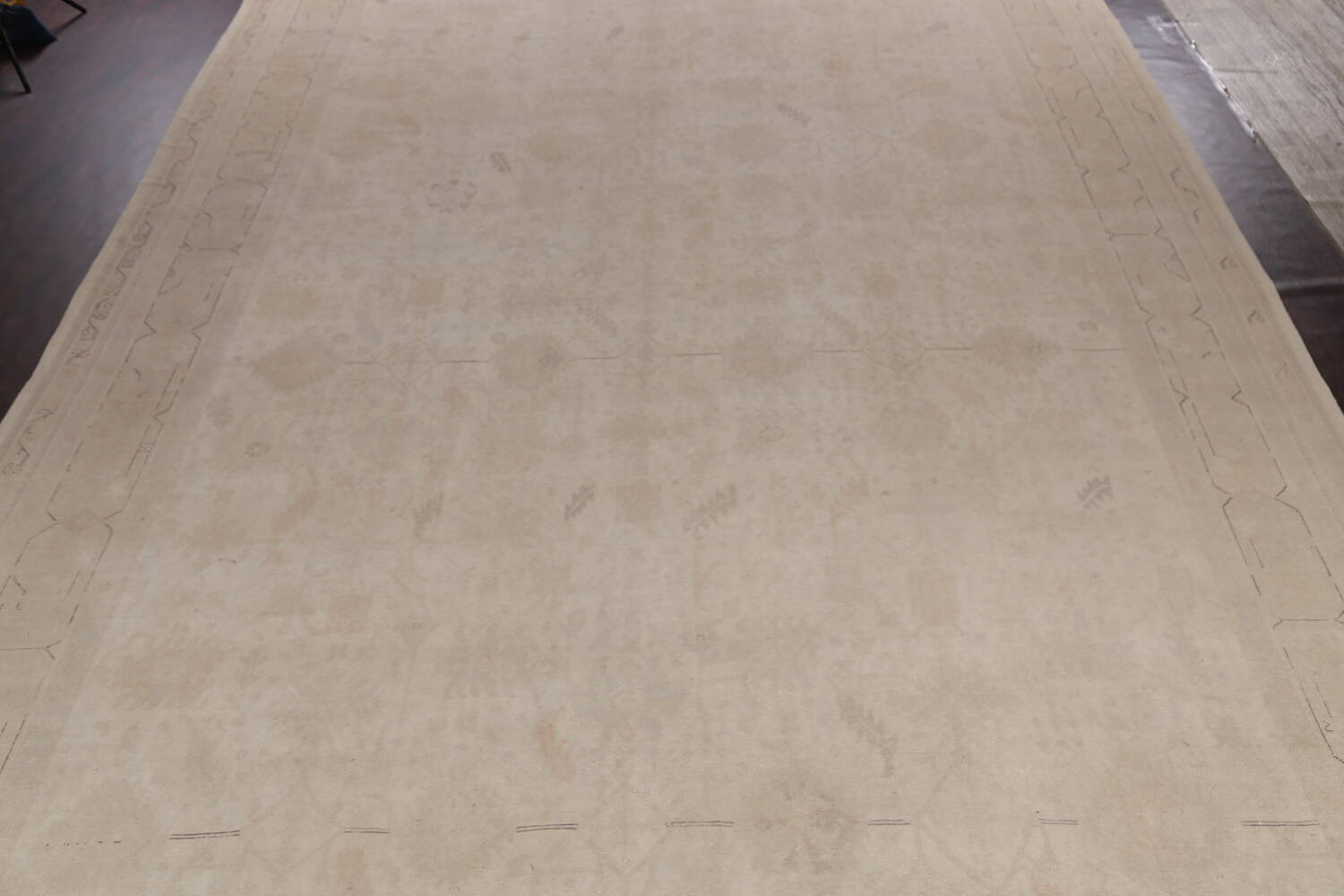 Antique Sultanabad Vegetable Dye Persian Area Rug 14x23 image 3