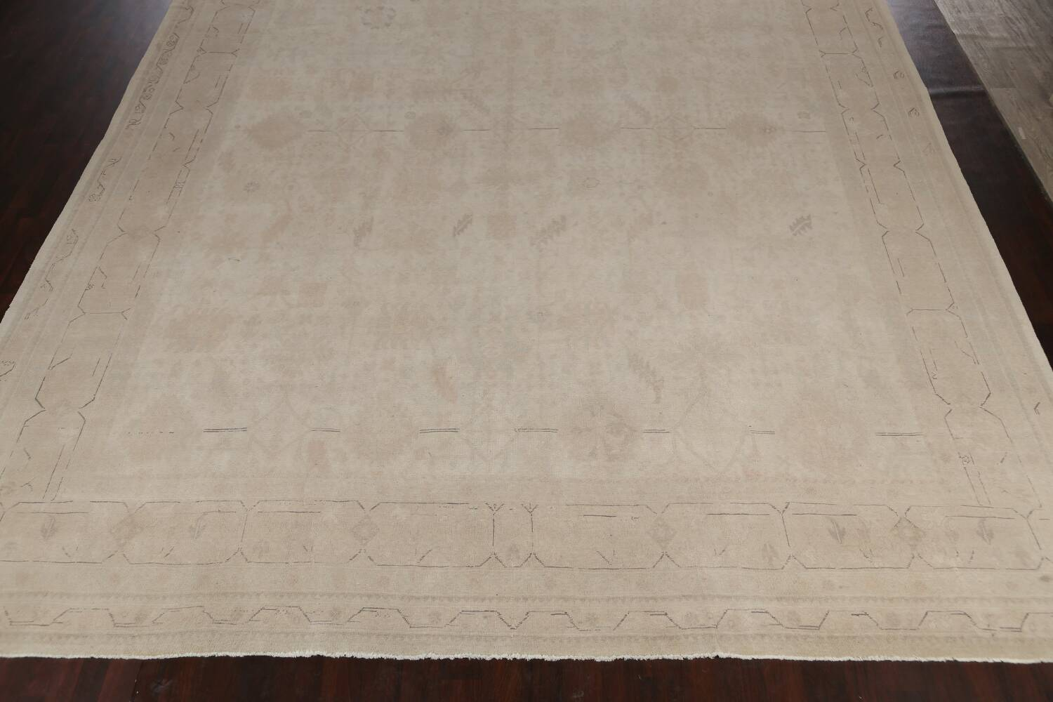 Antique Sultanabad Vegetable Dye Persian Area Rug 14x23 image 8