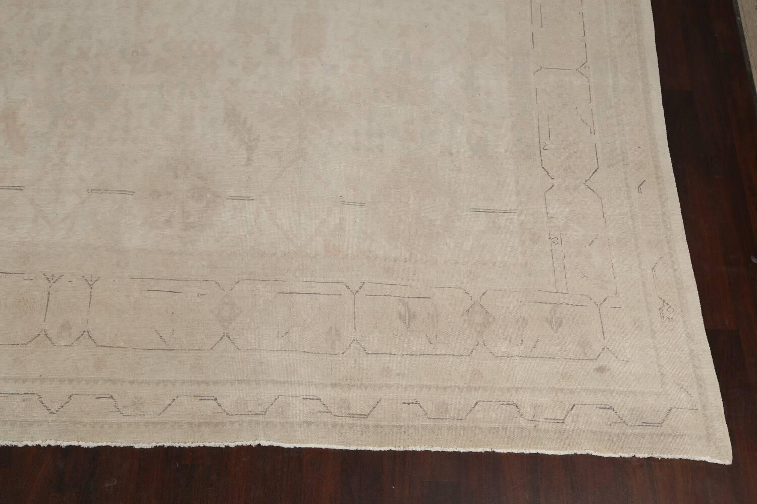 Antique Sultanabad Vegetable Dye Persian Area Rug 14x23 image 5