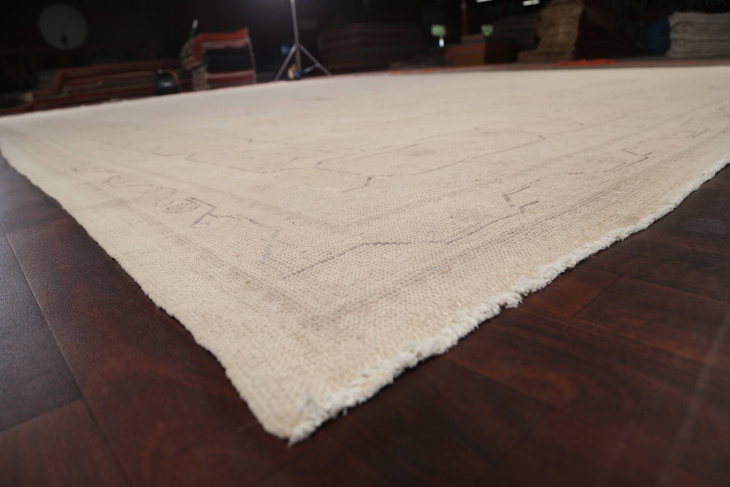 Antique Sultanabad Vegetable Dye Persian Area Rug 14x23 image 6
