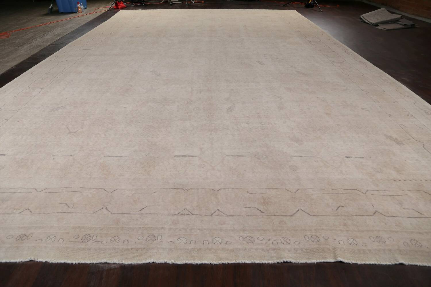 Antique Sultanabad Vegetable Dye Persian Area Rug 14x23 image 14
