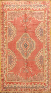 Antique Geometric Moroccan Oriental Area Rug 6x9