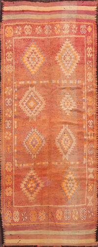 Antique Moroccan Oriental Runner Rug 5x12