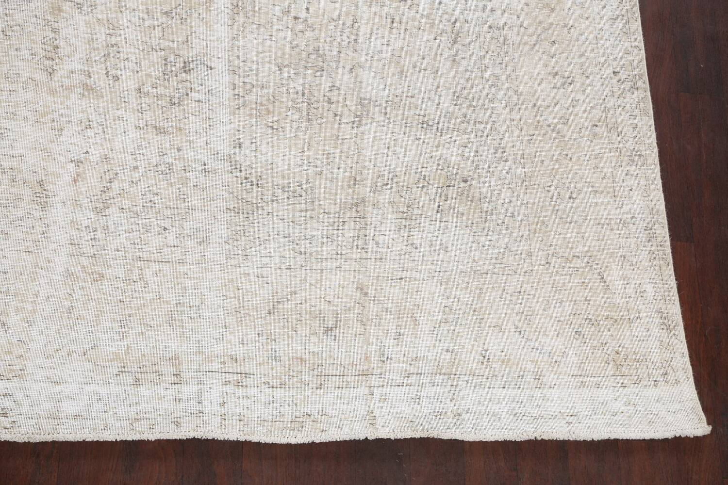 Antique Muted Vintage Distressed Oriental Area Rug 10x11 image 5