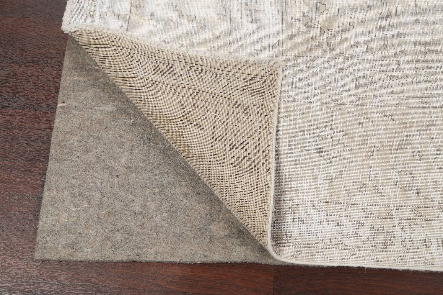 Antique Muted Vintage Distressed Oriental Area Rug 10x11 image 7