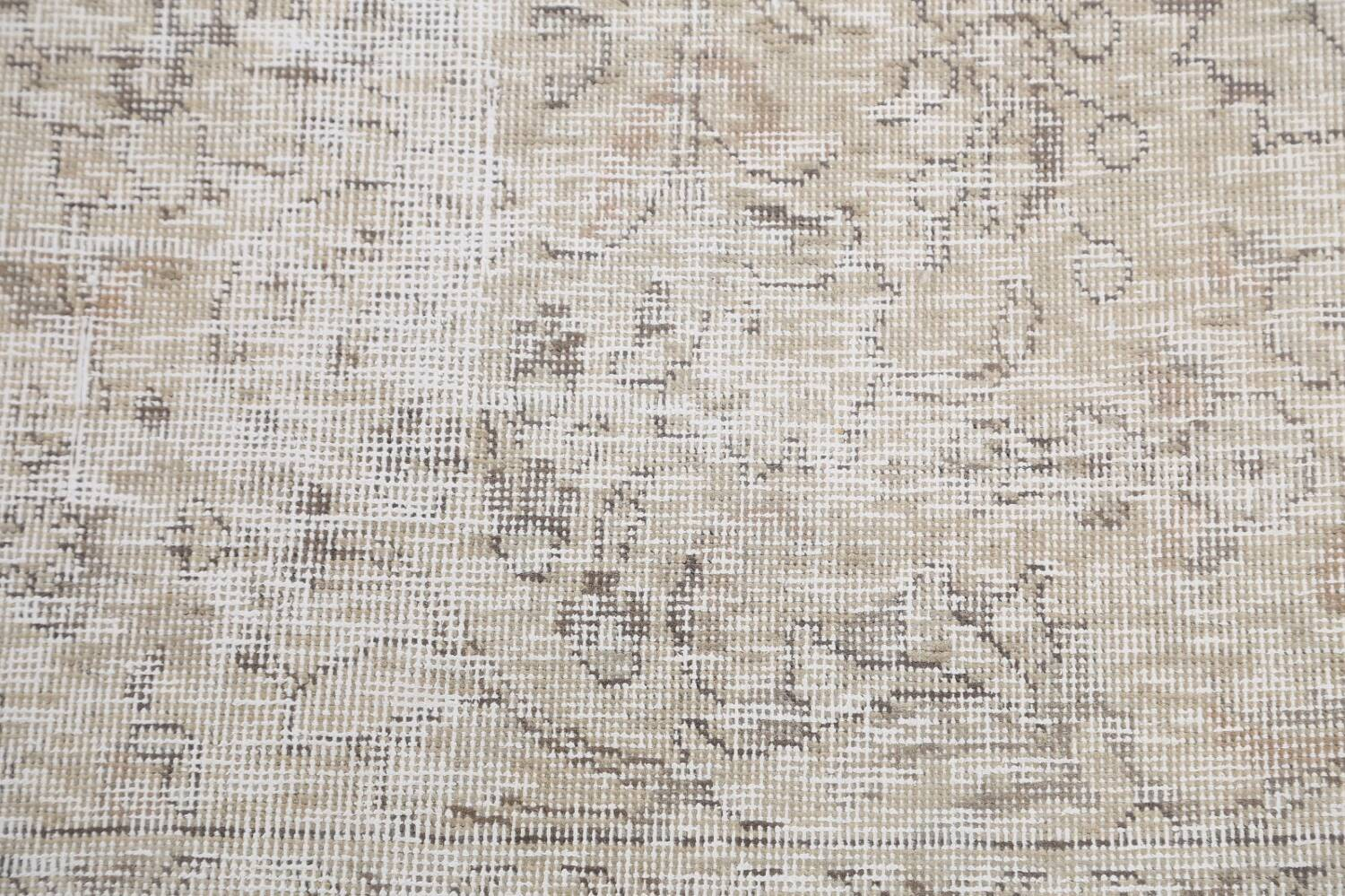 Antique Muted Vintage Distressed Oriental Area Rug 10x11 image 9