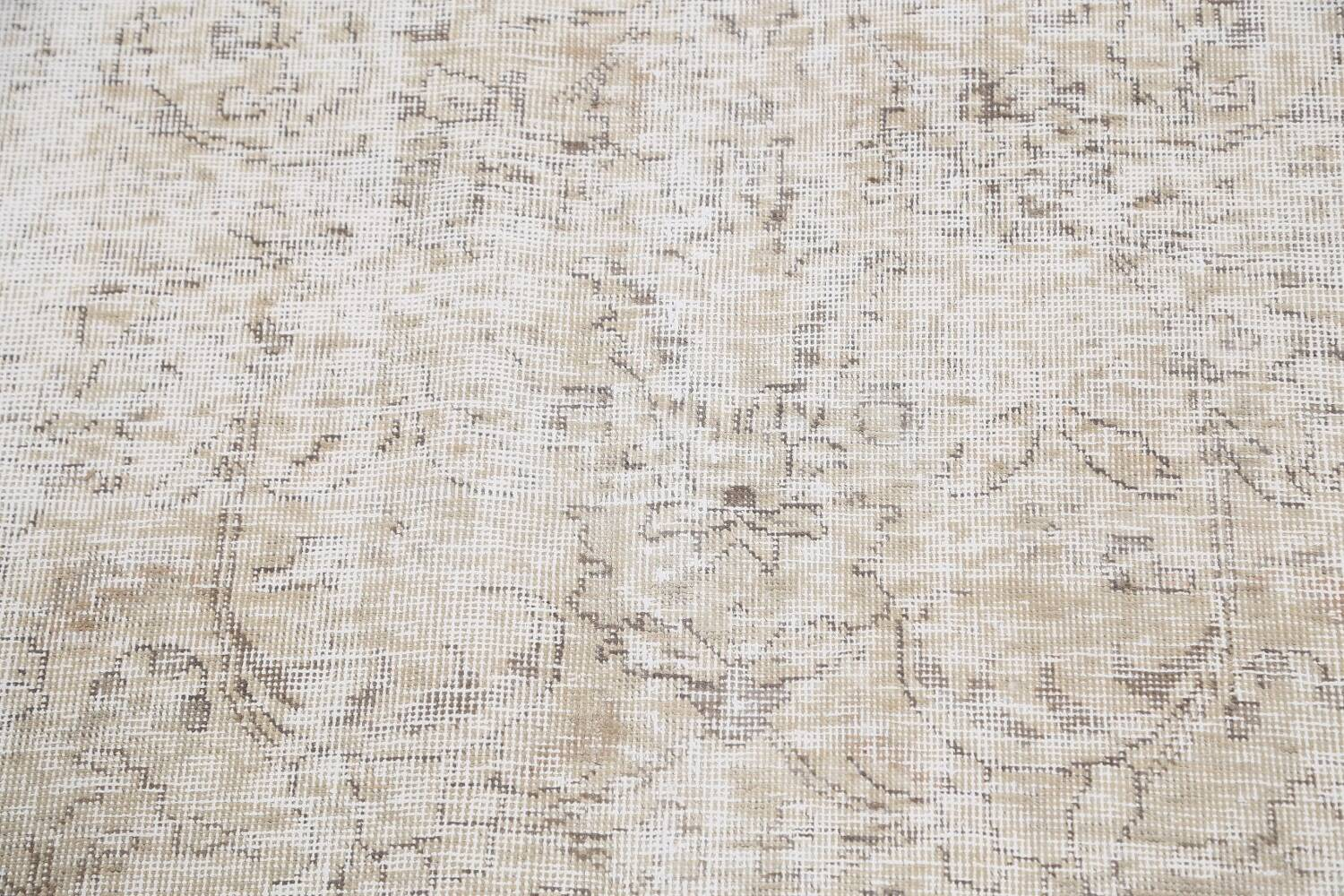 Antique Muted Vintage Distressed Oriental Area Rug 10x11 image 10