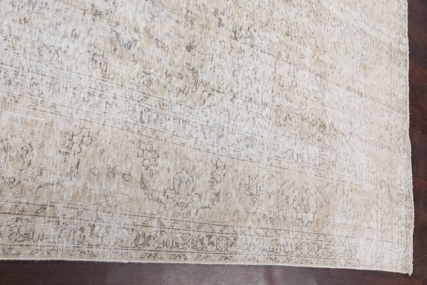 Antique Muted Vintage Distressed Oriental Area Rug 10x11 image 14