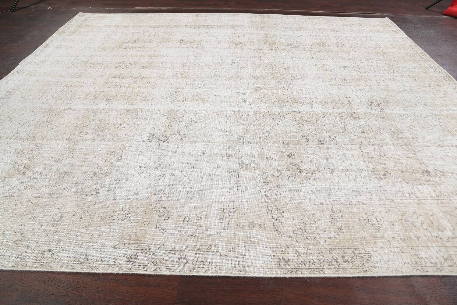 Antique Muted Vintage Distressed Oriental Area Rug 10x11 image 15