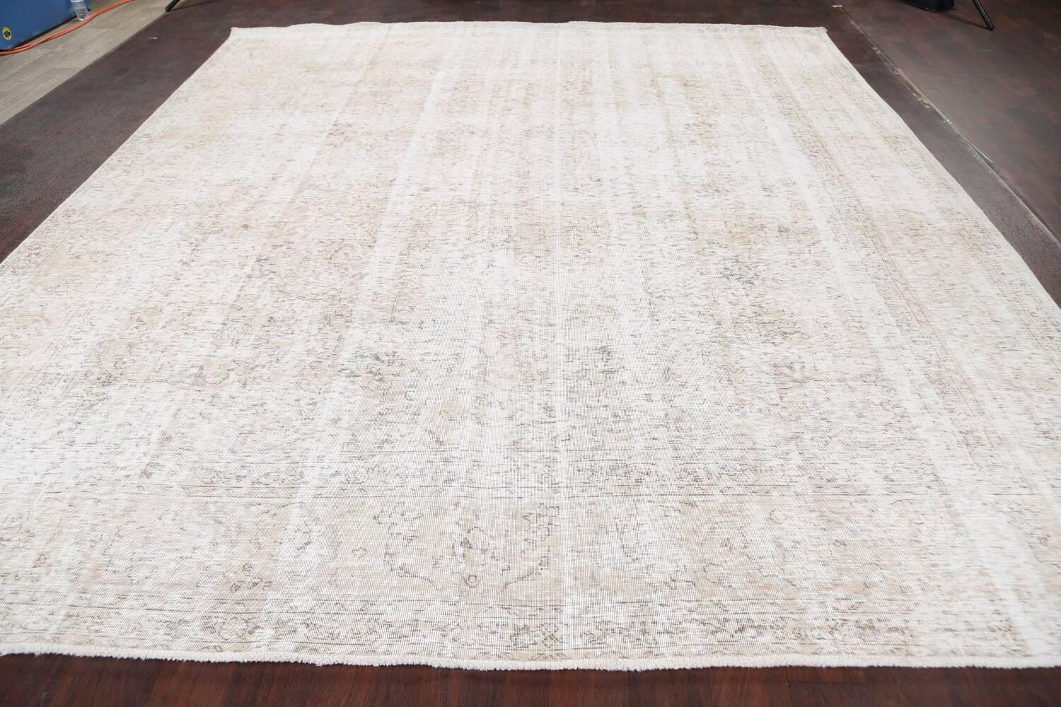 Antique Muted Vintage Distressed Oriental Area Rug 10x11 image 16