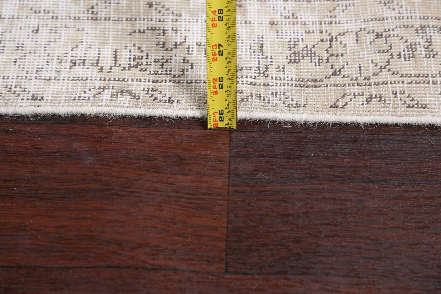 Antique Muted Vintage Distressed Oriental Area Rug 10x11 image 20