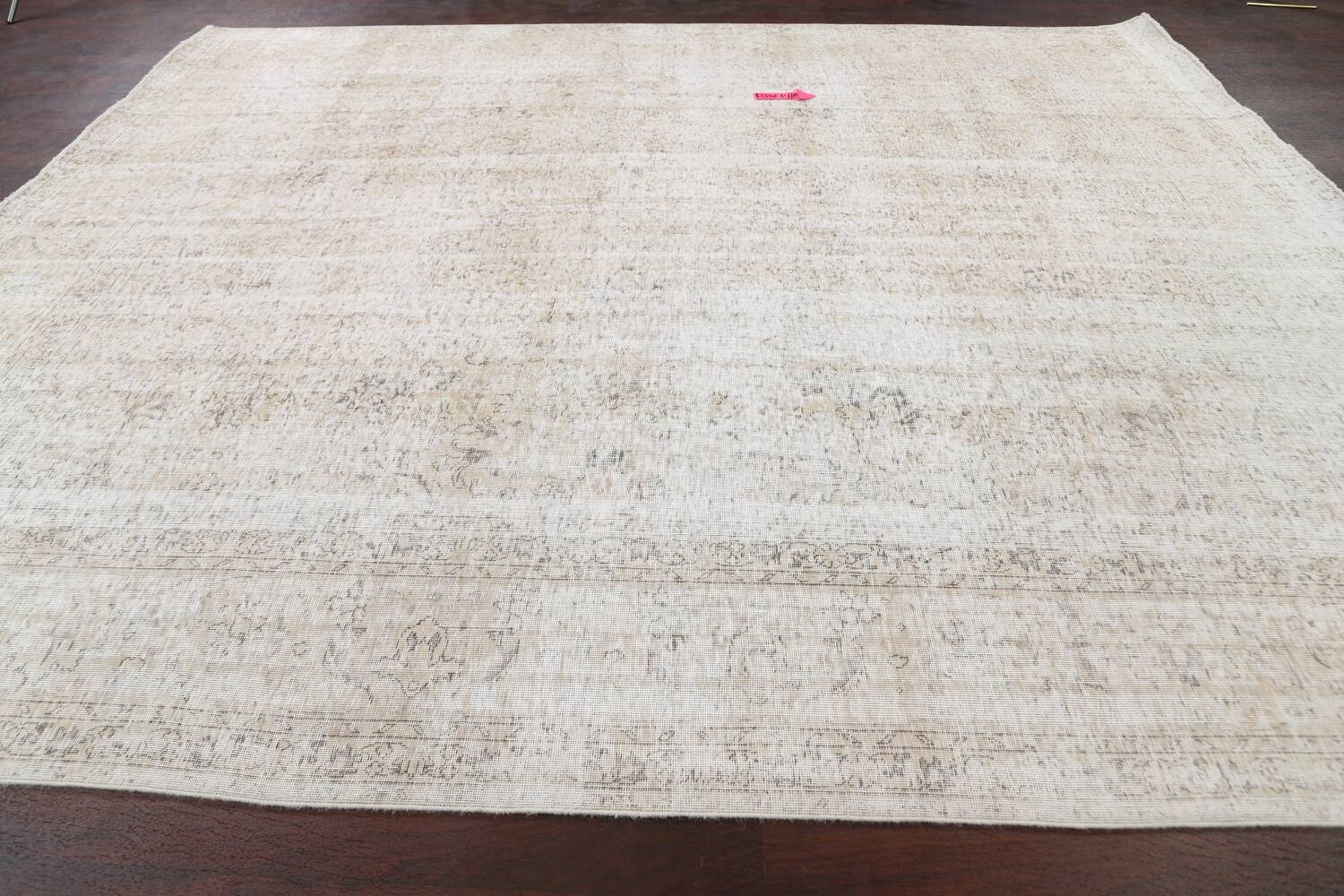 Antique Muted Vintage Distressed Oriental Area Rug 10x11 image 12