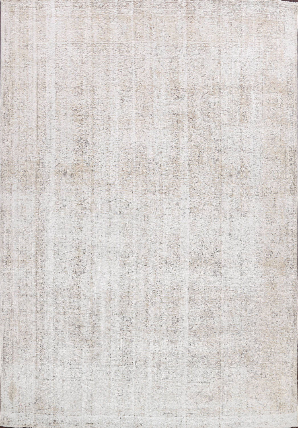 Antique Muted Vintage Distressed Oriental Area Rug 10x11 image 1