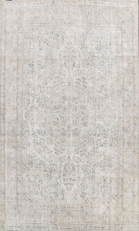 Antique Vintage Distressed Oriental Area Rug 10x12