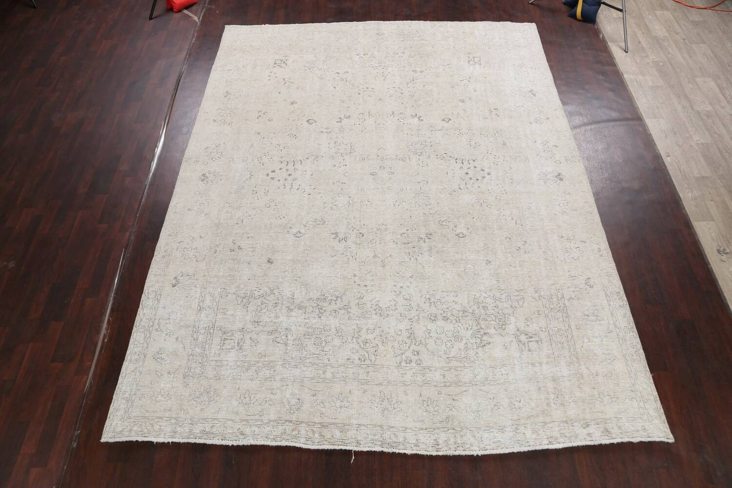 Antique Muted Vintage Distressed Oriental Area Rug 9x12 image 2