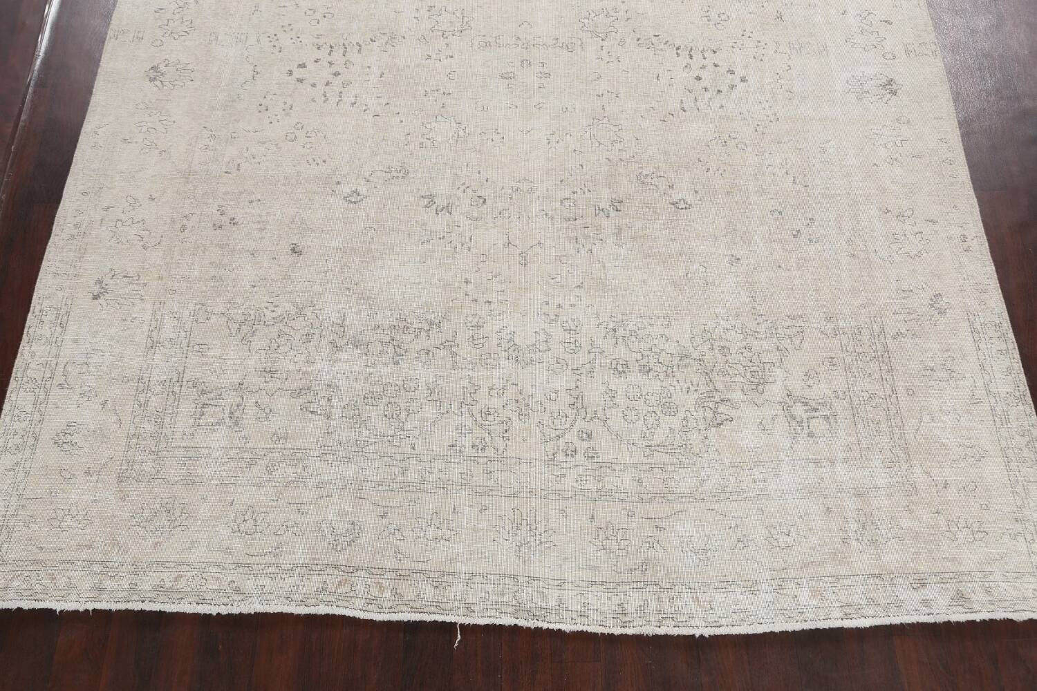 Antique Muted Vintage Distressed Oriental Area Rug 9x12 image 8
