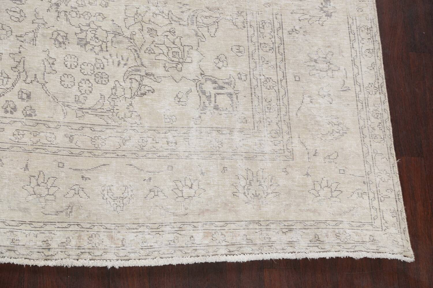 Antique Muted Vintage Distressed Oriental Area Rug 9x12 image 5