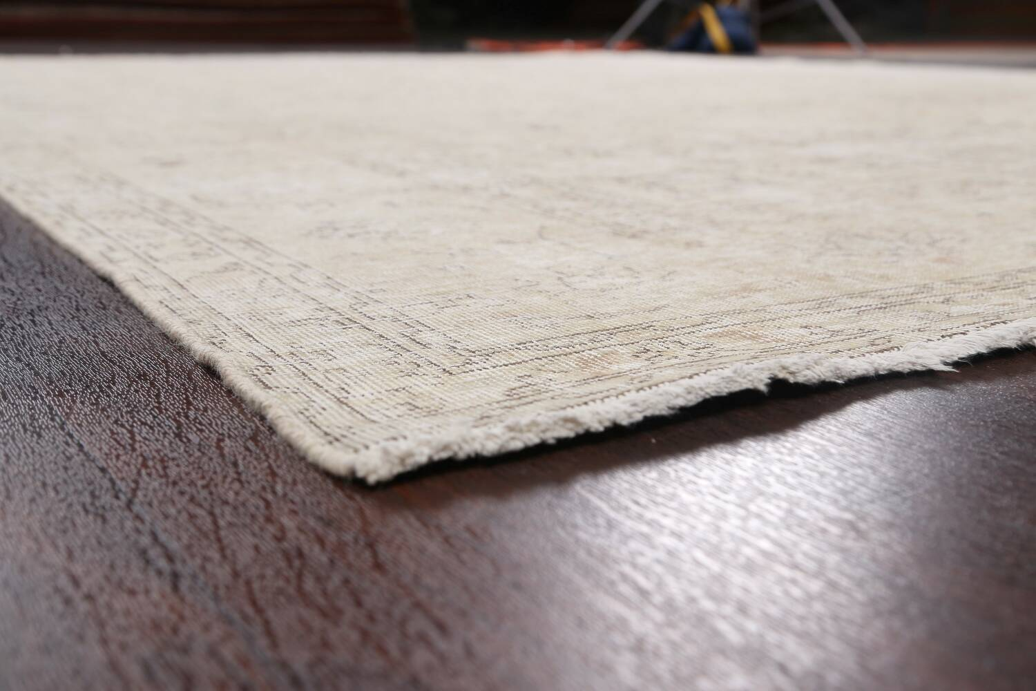 Antique Muted Vintage Distressed Oriental Area Rug 9x12 image 6