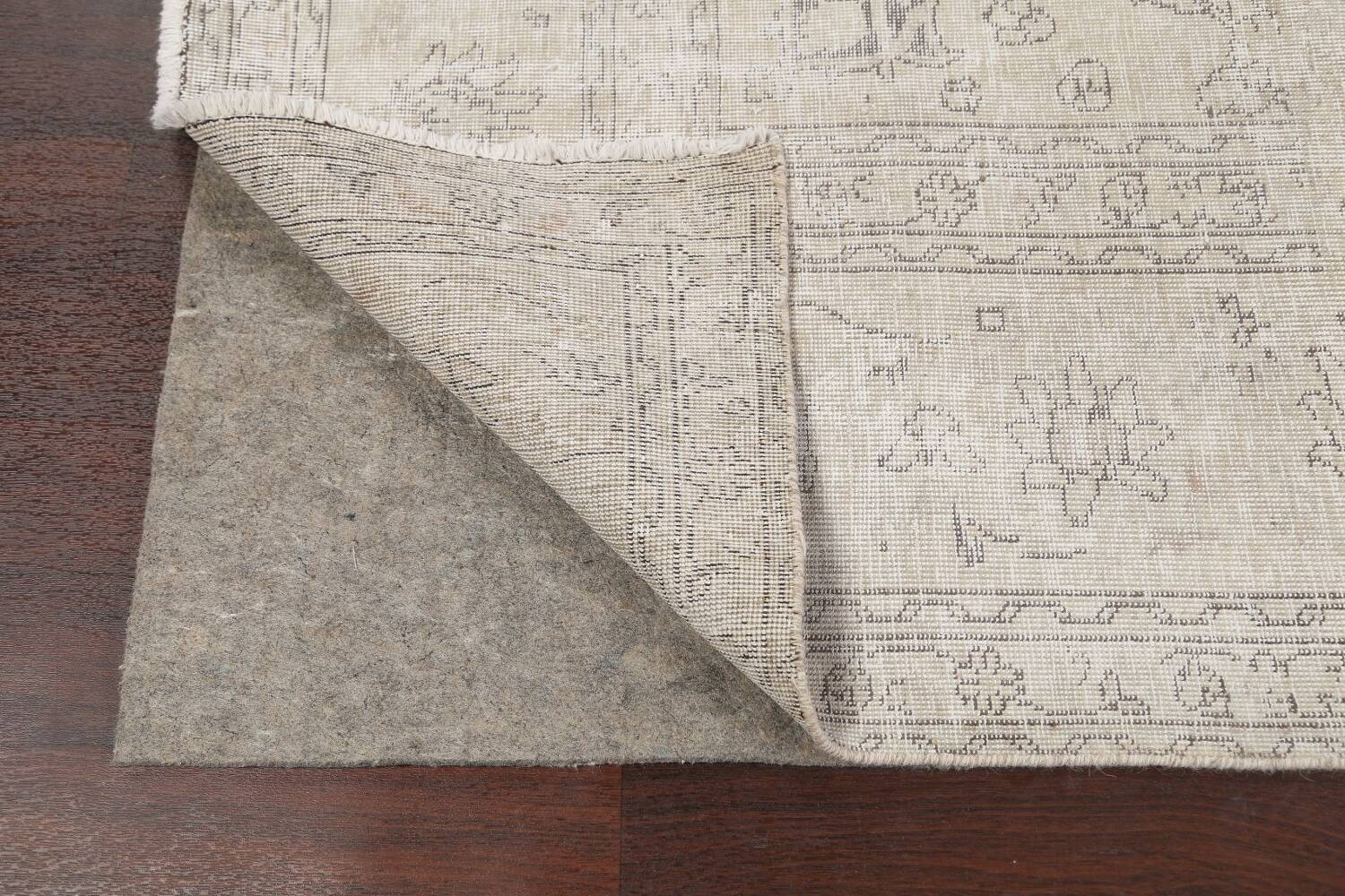 Antique Muted Vintage Distressed Oriental Area Rug 9x12 image 7