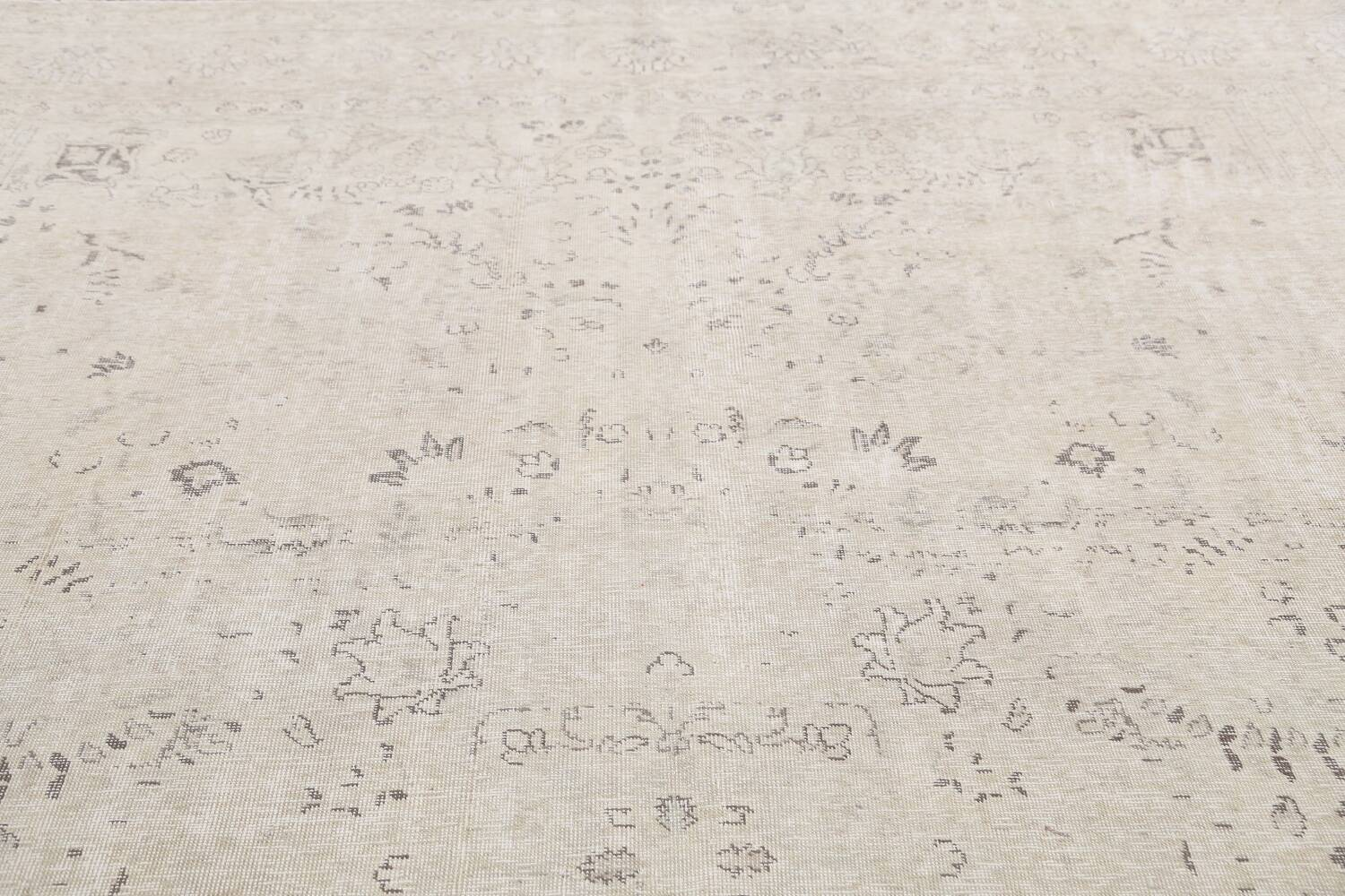 Antique Muted Vintage Distressed Oriental Area Rug 9x12 image 12