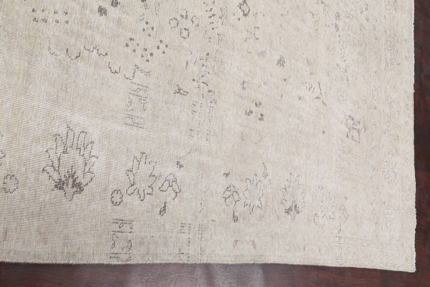 Antique Muted Vintage Distressed Oriental Area Rug 9x12 image 13