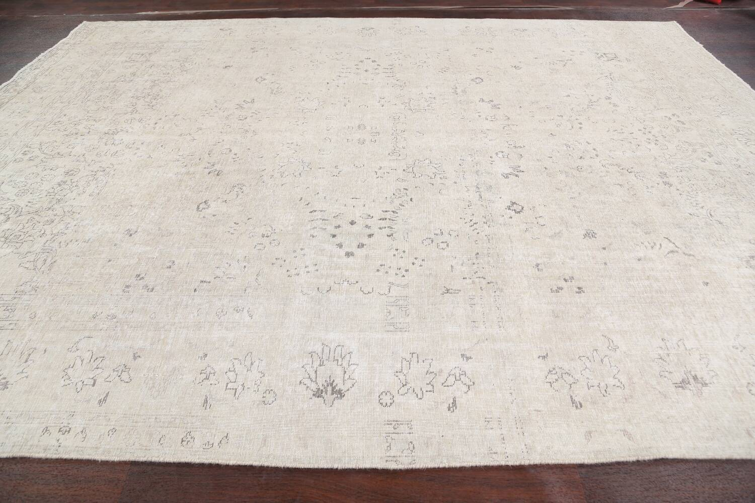 Antique Muted Vintage Distressed Oriental Area Rug 9x12 image 14