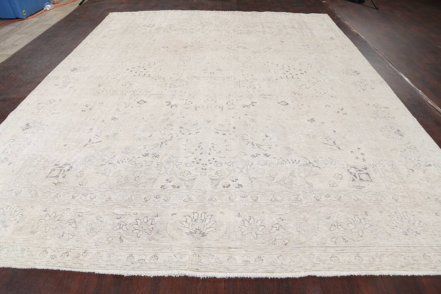 Antique Muted Vintage Distressed Oriental Area Rug 9x12 image 15