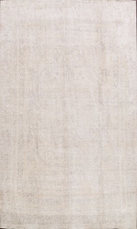 Antique Muted Vintage Distressed Oriental Area Rug 9x12