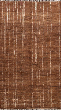 Brown Moroccan Oriental Area Rug 6x9