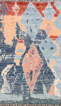 Abstract Moroccan Oriental Area Rug 4x6